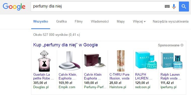 Google - perfumy dla niej