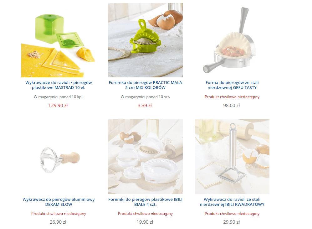 produkty niedostępna na końcu listingu