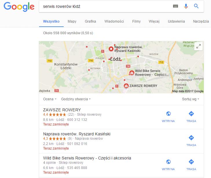 moja firma w Google