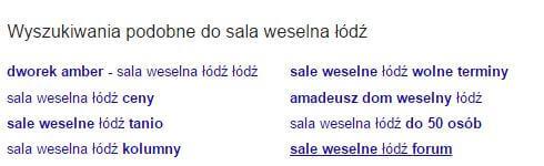 wyszukiwania podobne do sala weselna Łódź