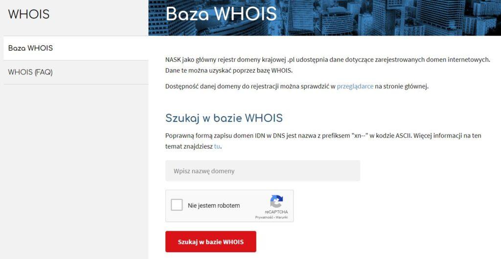 whois krajowy rejestr domen
