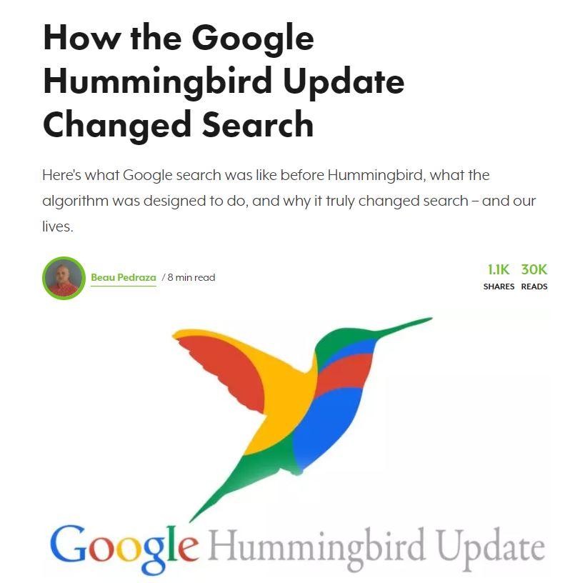 hummingbird aktualizacja