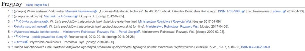 Pozyskiwanie linków z Wikipedii