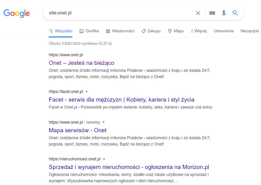 Ban site:nazwa-domeny.pl