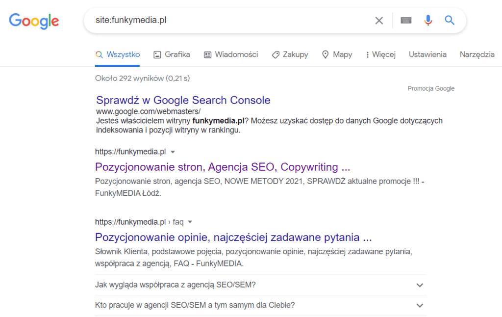 Jak sprawdzić widoczność strony w Google?