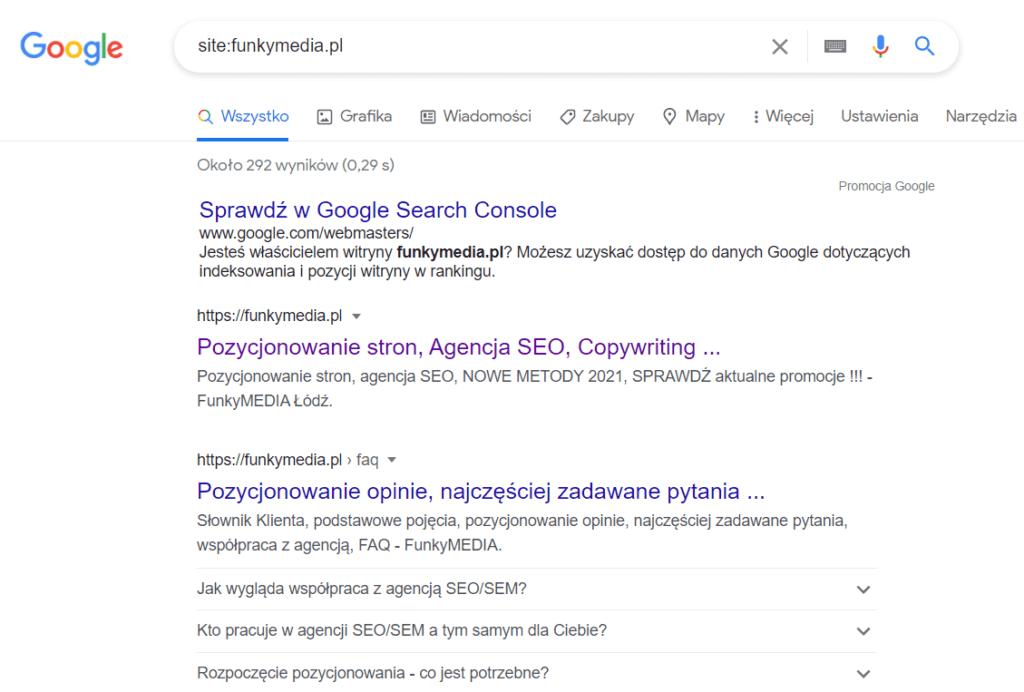 Sprawdzanie bana w wynikach wyszukiwania