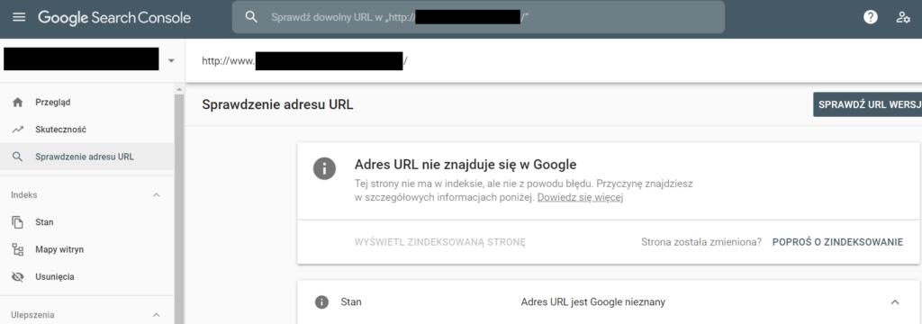 wykorzystanie Google Search Console