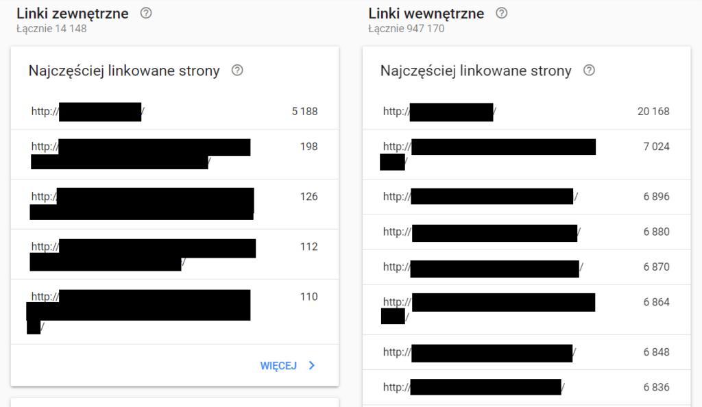 Darmowe narzędzie do sprawdzania linków przychodzących - Google Search Console