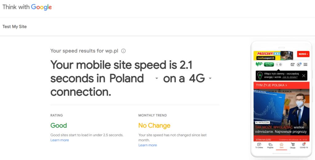Osobne testy jakości strony dla urządzeń mobilnych i desktopowych