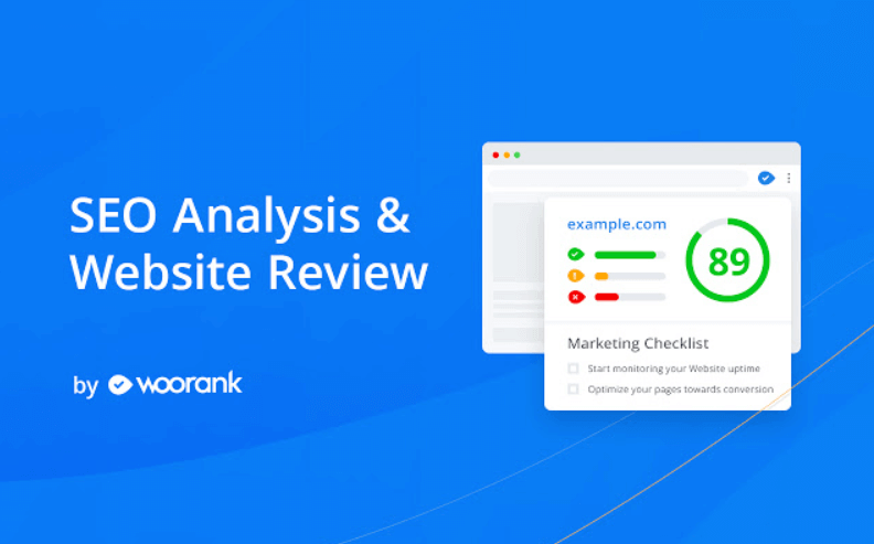 SEO Analysis & Website Review od Woorank