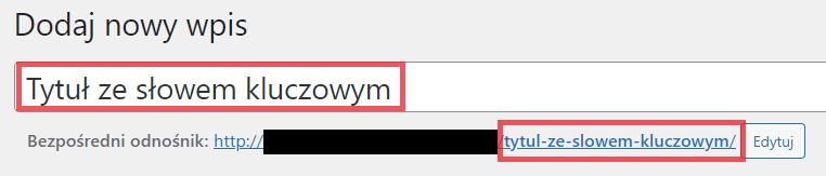 Adres URL podstrony z frazą