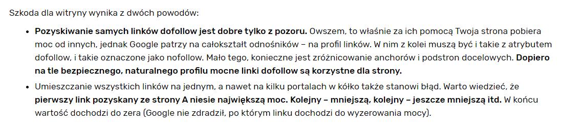 Zoptymalizowany tekst SEO